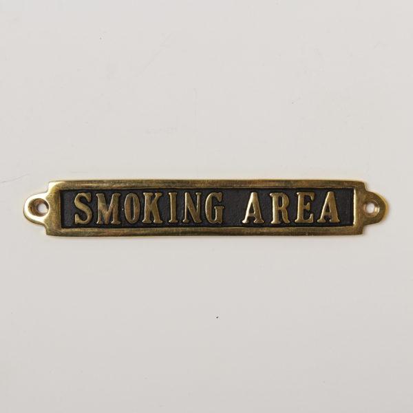 BRASS SIGN  SMOKING AREA