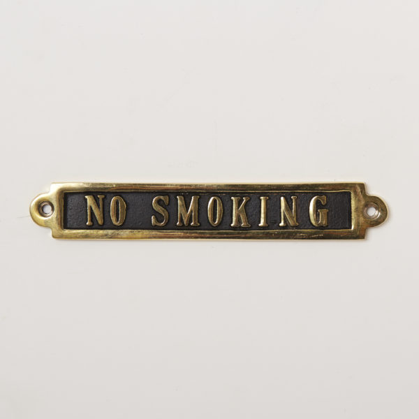 BRASS SIGN  NO SMOKING
