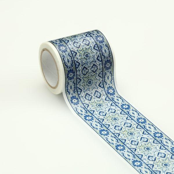 インテリアマスキングテープ 50mmタイル/ブルー W
