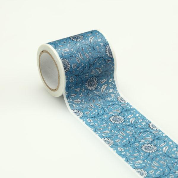 インテリアマスキングテープ 50mmフラワー/ブルー
