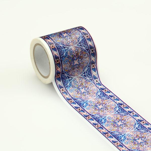 インテリアマスキングテープ 50mmタイル/ブルー Y