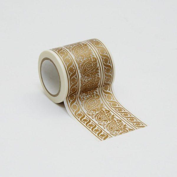 インテリアマスキングテープ 50mmダマスク/ゴールド
