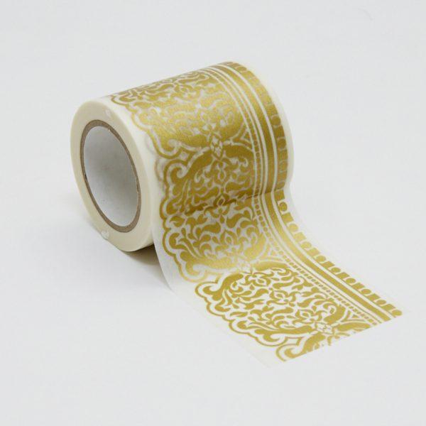 インテリアマスキングテープ 50mmダマスク/ライトゴールド