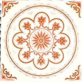 タイルステッカー オレンジ