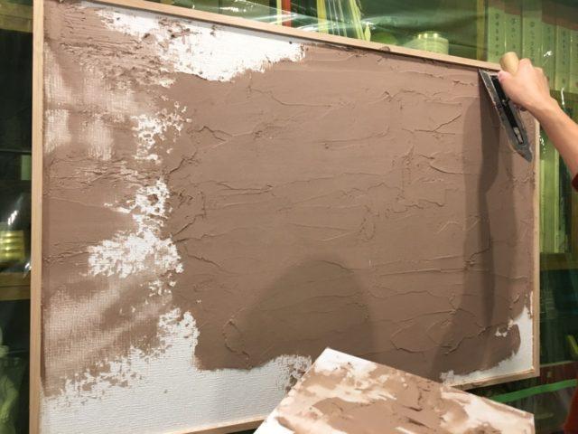 【DecorTokyoワークショップ】珪藻土「DecorStucco」を塗ってみました!