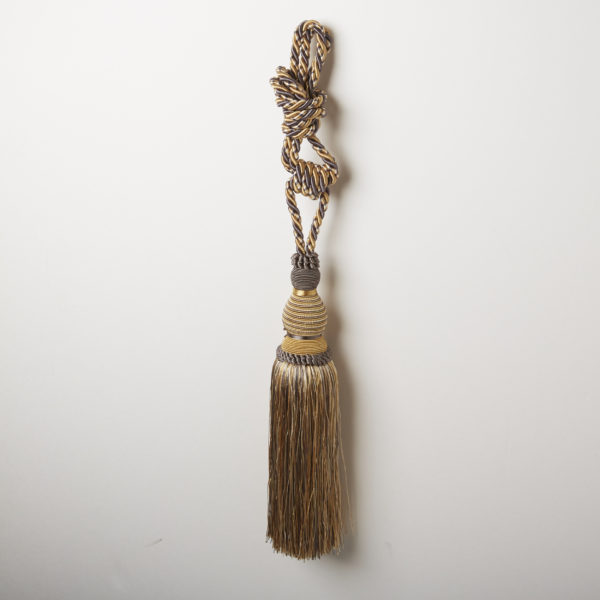 "CURTAIN TASSEL ""BONNIE"" GOLD/GY"