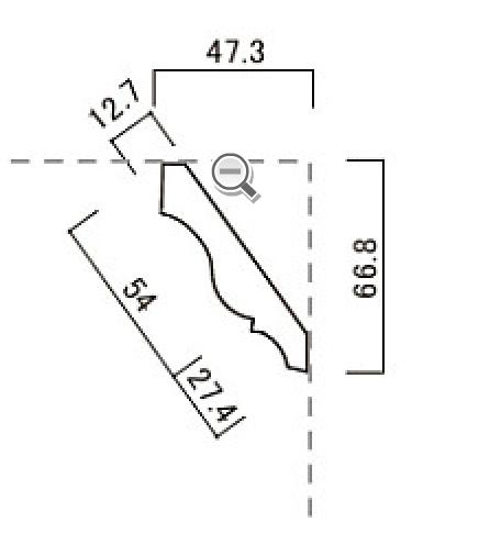モールディング 廻り縁(ベイツガ) H49