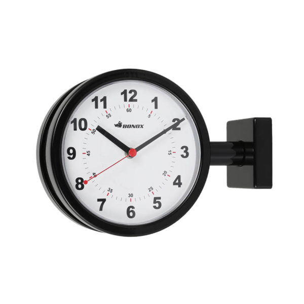 DOUBLE FACE CLOCK 170D BLACK