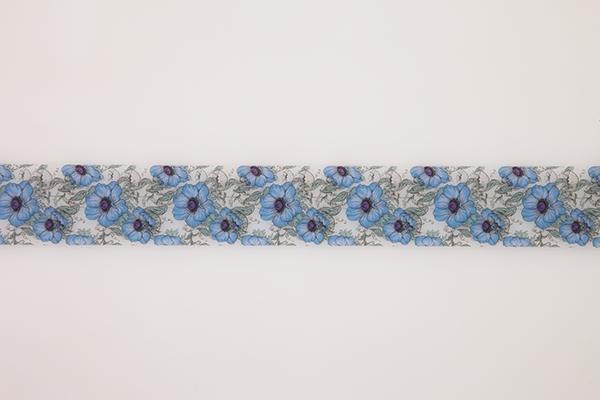 インテリアフィルムテープ 50mm フラワー/ブルー