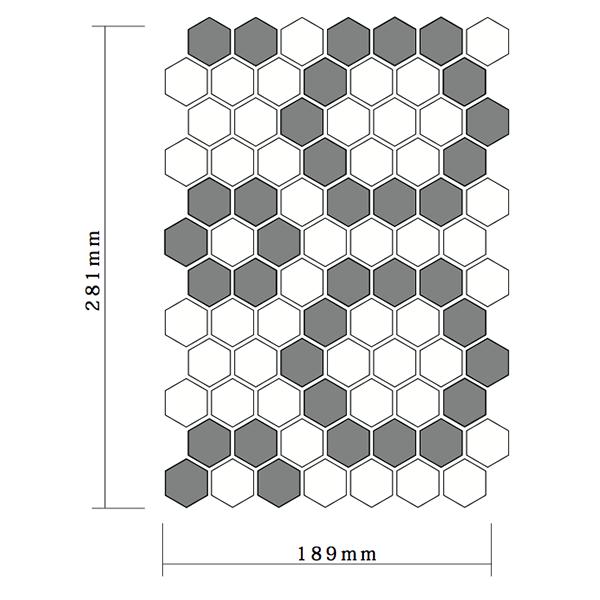 パターンヘキサゴンタイルシート01