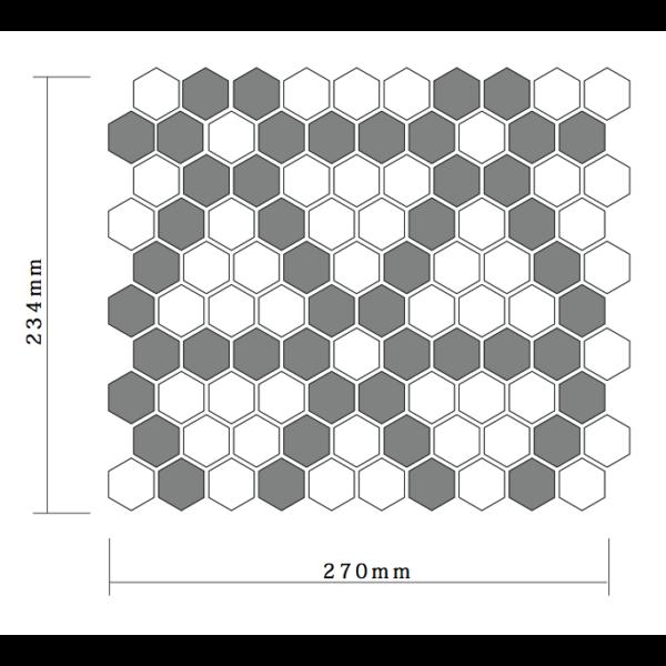 パターンヘキサゴンタイルシート02