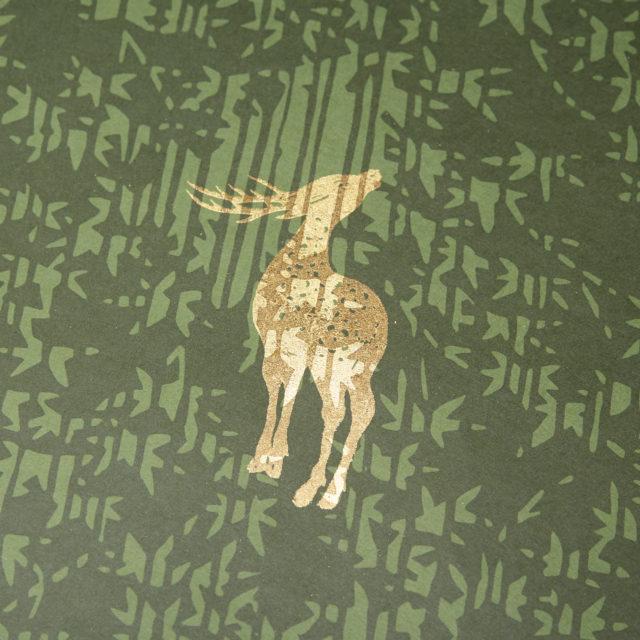 楓鹿紋 背面柄 鼠
