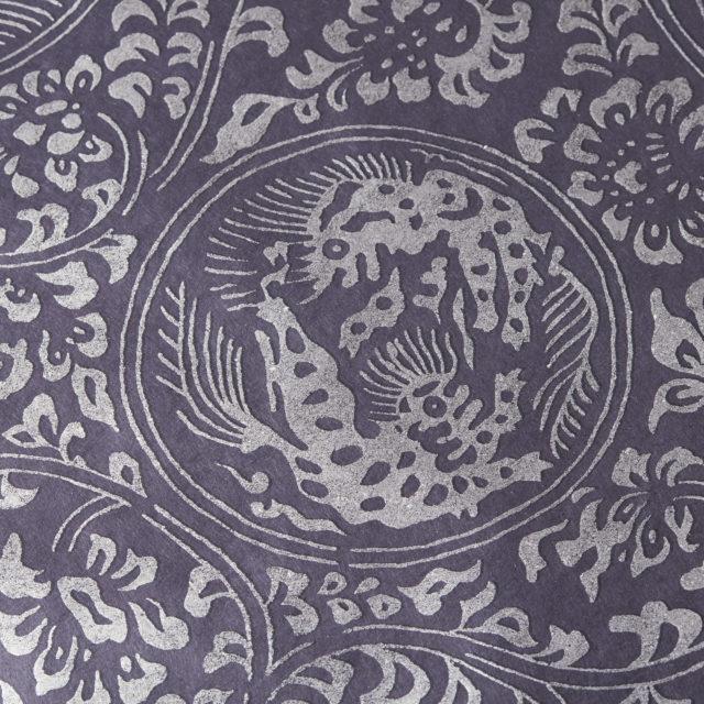獅子地紋 紺