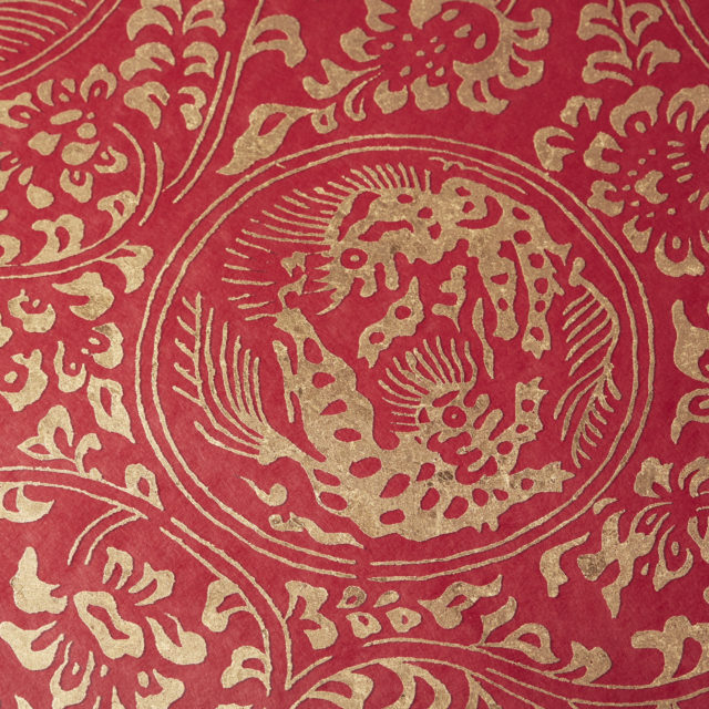 獅子地紋 AntiqueGold  小豆