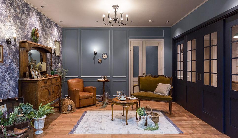 ドアが素敵なコーディネートで、居心地の良い空間づくり