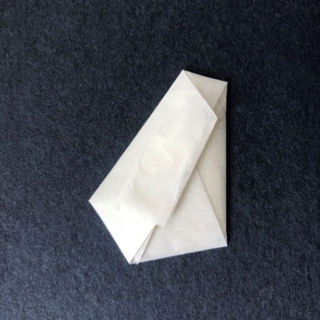 ふすま紙カードケース 月に鶴(青鼠)×獅子地紋(唐子)