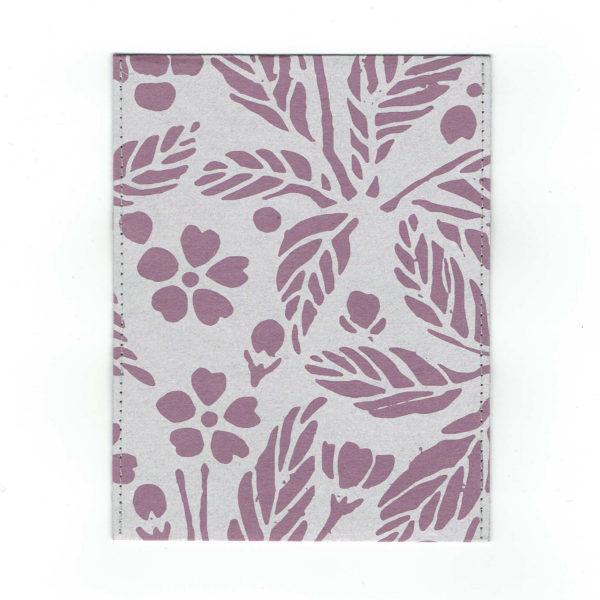ふすま紙カードケース 葉桜 (藤紫)×雪輪竹(鶯)