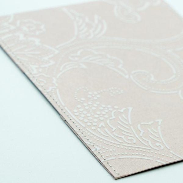 ふすま紙カードケース 唐草更紗(浅紫)×葉桜(利休鼠)