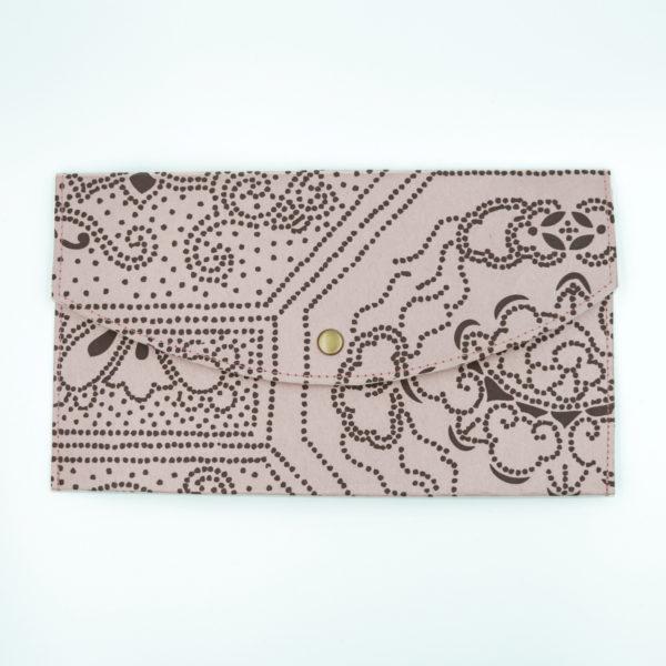 襖紙ペンケース 月に鶴浅紫 FS221-PC