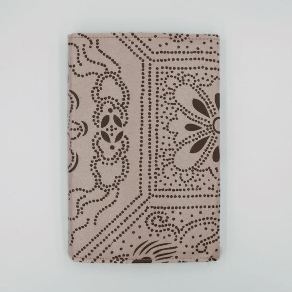 襖紙ブックカバー 月に鶴 浅紫 FS221-BC