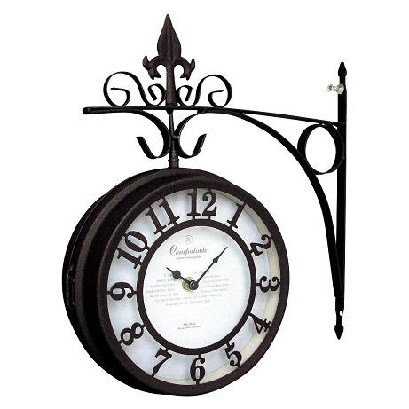 Old Street Bothside Clock L Brown
