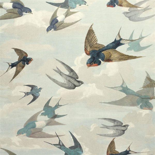 CHIMNEY SWALLOWS SKY BLUE PJD6003/01(ロール)